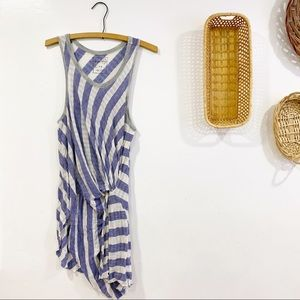 Free People Knotted Tunic Top Striped Sleeveless